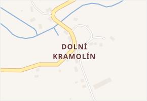 Dolní Kramolín v obci Chodová Planá - mapa části obce