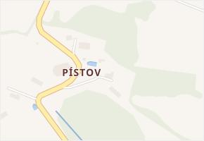 Pístov v obci Chodová Planá - mapa části obce