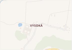 Vysoká v obci Chrastava - mapa části obce