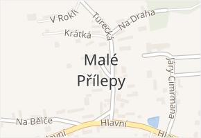 Malé Přílepy v obci Chyňava - mapa části obce