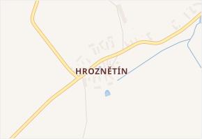 Hroznětín v obci Číhošť - mapa části obce