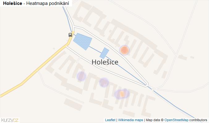 Mapa Holešice - Firmy v části obce.