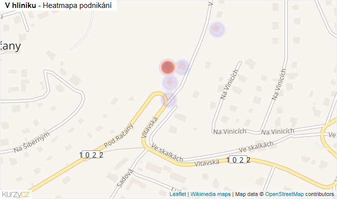 Mapa V hliníku - Firmy v ulici.