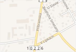 Příbramská v obci Dobříš - mapa ulice