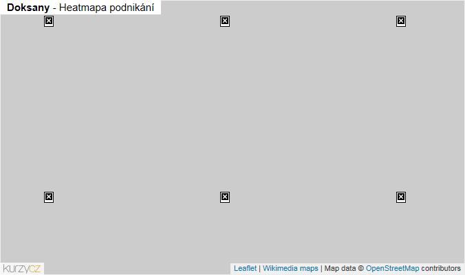 Mapa Doksany - Firmy v obci.