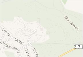 Bílý kámen v obci Doksy - mapa ulice