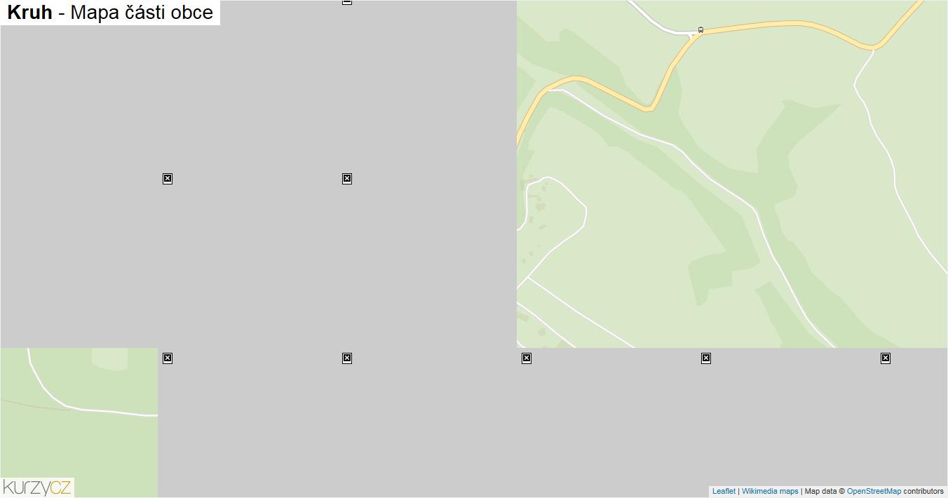 Kruh - mapa části obce