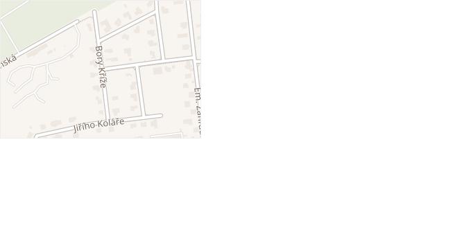 Borová v obci Doksy - mapa ulice