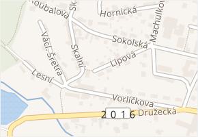 Lipová v obci Doksy - mapa ulice