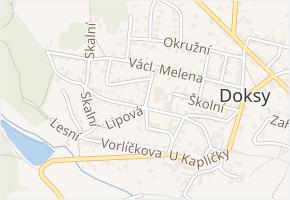 Machulkova v obci Doksy - mapa ulice