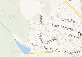 Skalní v obci Doksy - mapa ulice