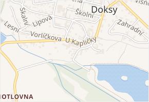Václ. Plecitého v obci Doksy - mapa ulice
