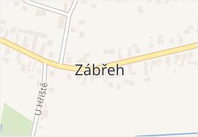 Zábřeh v obci Dolní Benešov - mapa části obce