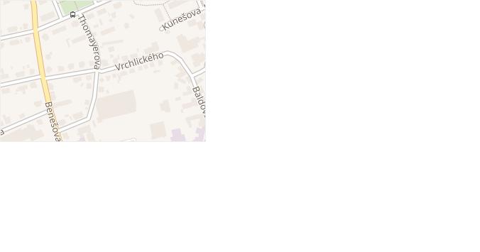 Vrchlického v obci Domažlice - mapa ulice