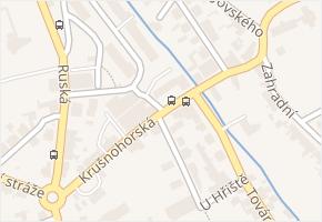Krušnohorská v obci Dubí - mapa ulice