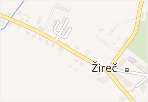 Žireč v obci Dvůr Králové nad Labem - mapa části obce