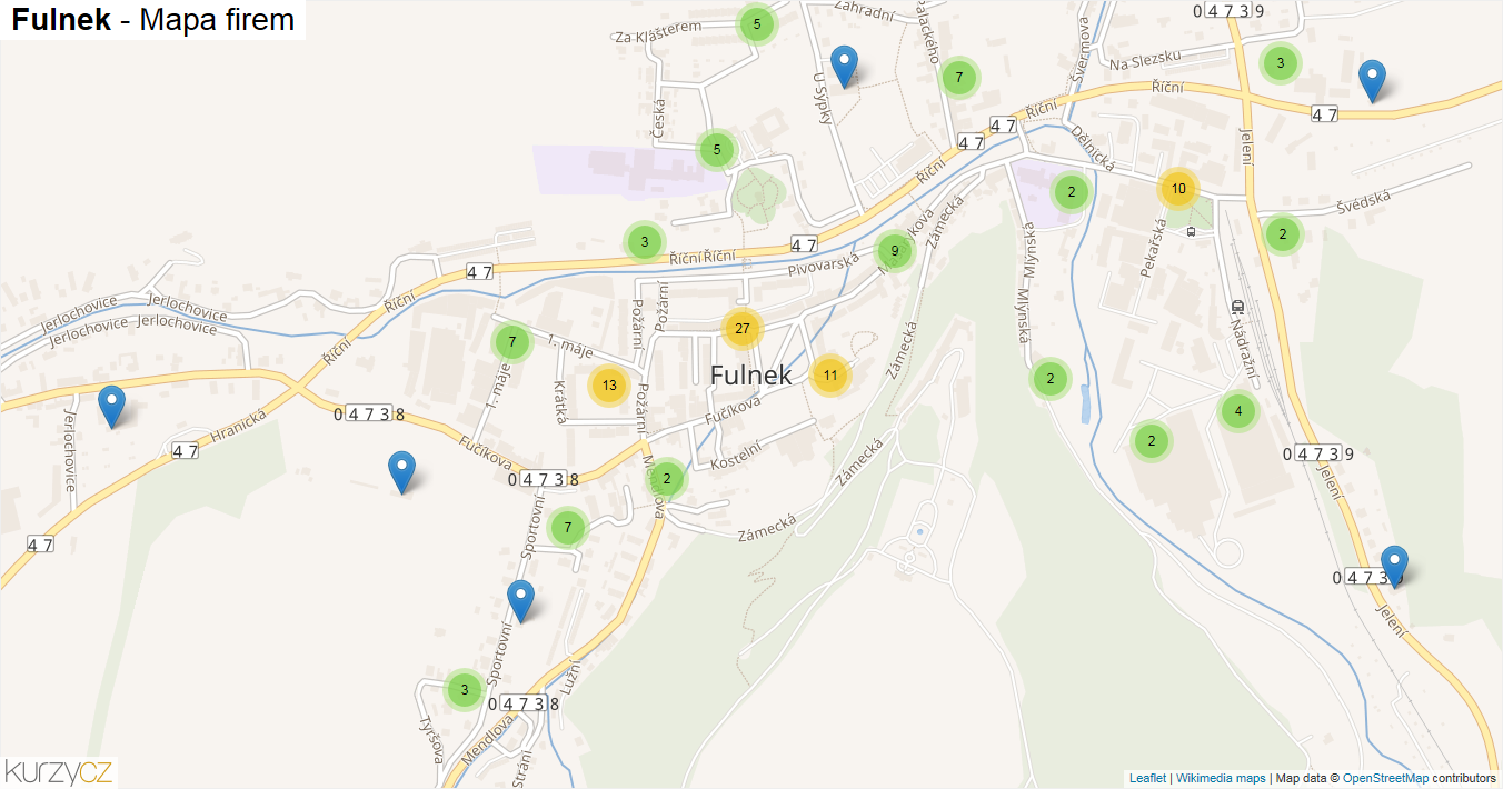 Fulnek - mapa firem
