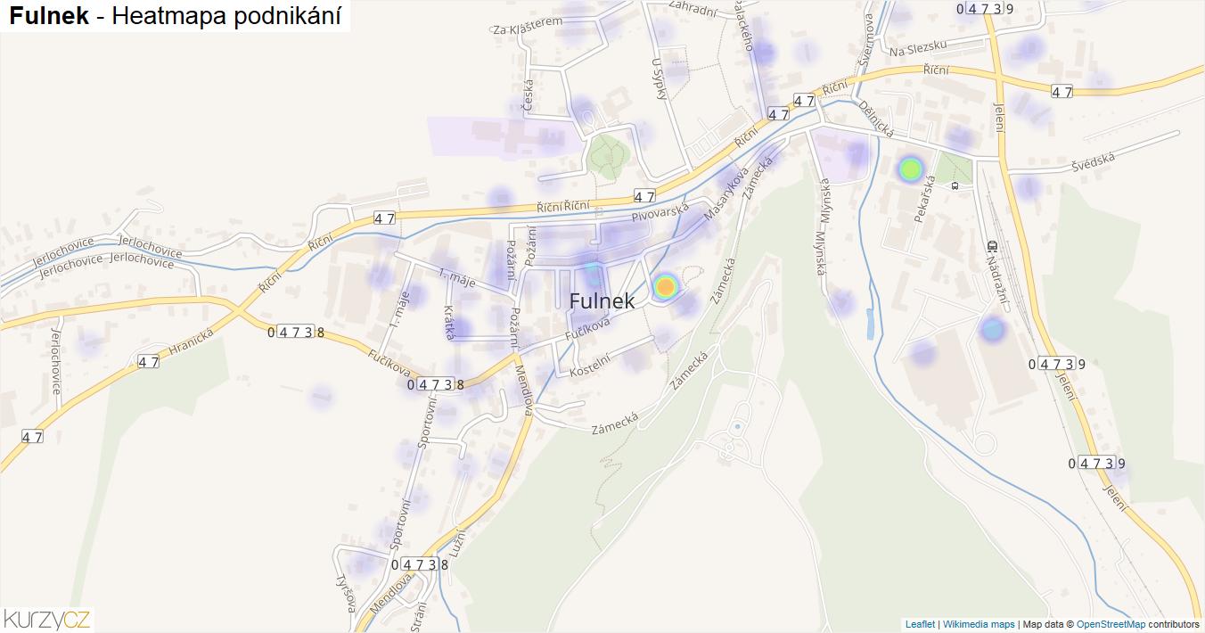 Fulnek - mapa podnikání