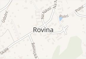Rovina v obci Hlásná Třebaň - mapa části obce