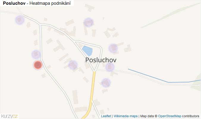 Mapa Posluchov - Firmy v části obce.