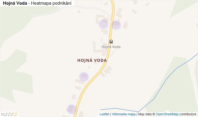 Mapa Hojná Voda - Firmy v části obce.