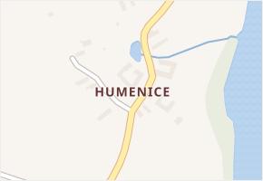 Humenice v obci Horní Stropnice - mapa části obce