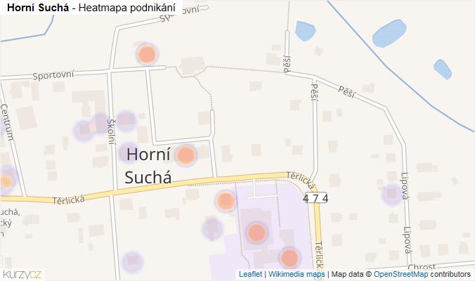 Mapa Horní Suchá - Firmy v obci.