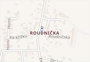 Roudnička v obci Hradec Králové - mapa části obce