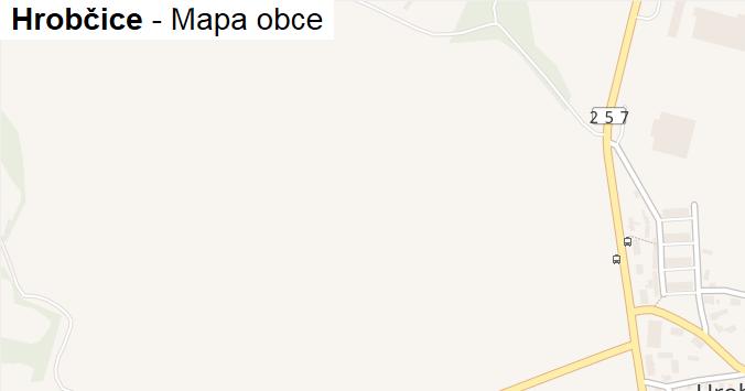 Hrobčice - mapa obce