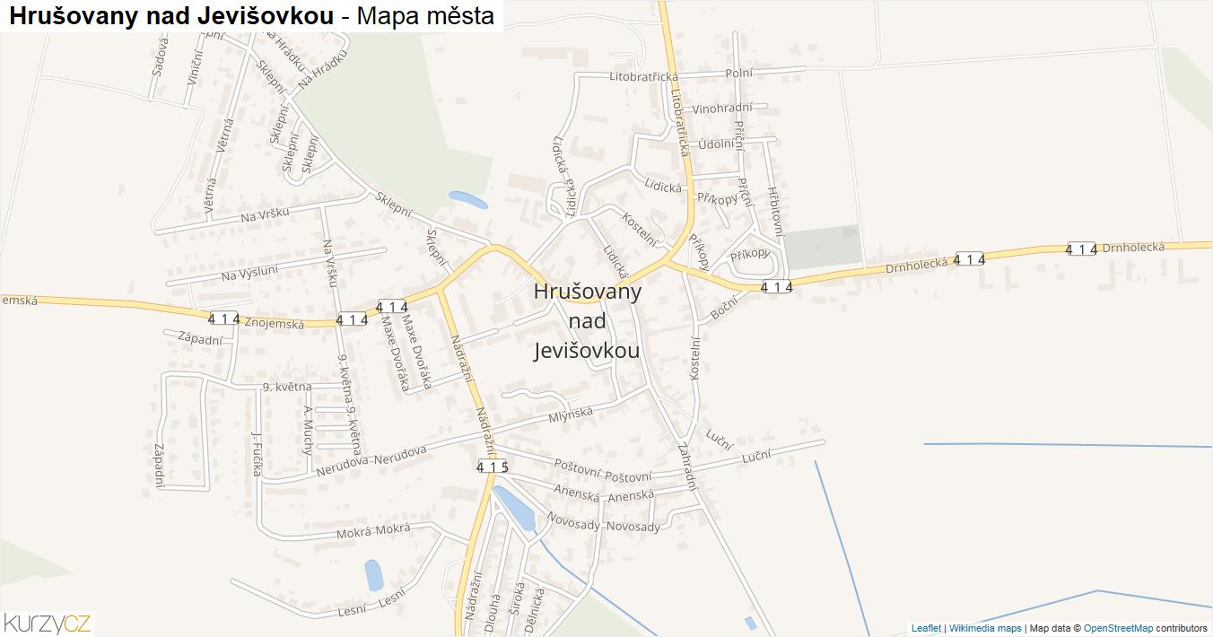 Hrušovany nad Jevišovkou - mapa města