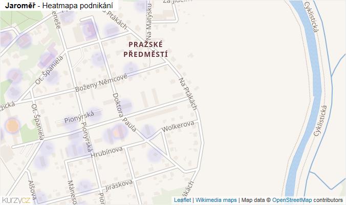 Mapa Jaroměř - Firmy v obci.
