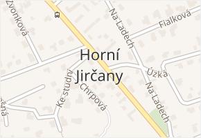 Horní Jirčany v obci Jesenice - mapa části obce