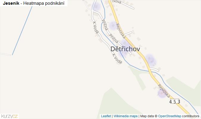 Mapa Jeseník - Firmy v obci.