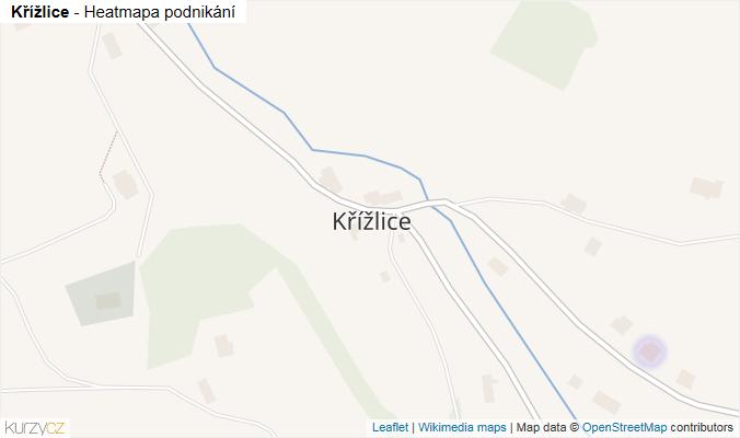 Mapa Křížlice - Firmy v části obce.