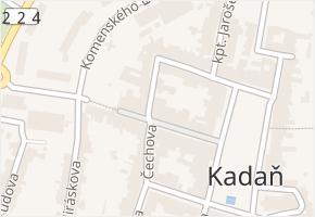 Jana Švermy v obci Kadaň - mapa ulice