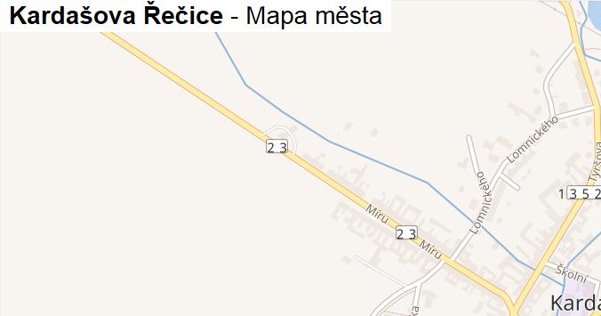 Kardašova Řečice - mapa města