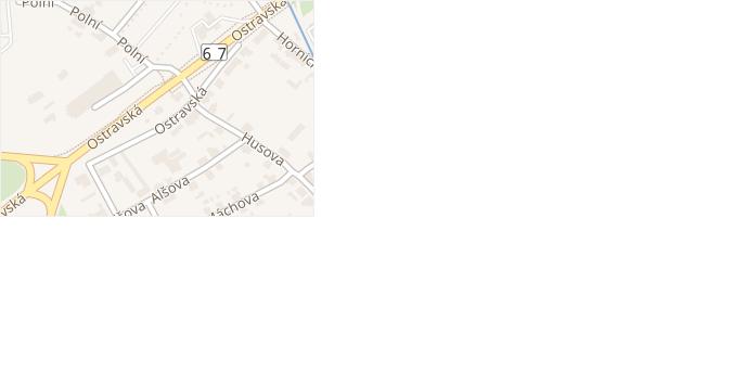 Ostravská v obci Karviná - mapa ulice