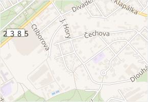 ČSD-strážní domek v obci Kladno - mapa ulice