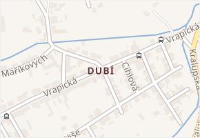 Dubí v obci Kladno - mapa části obce