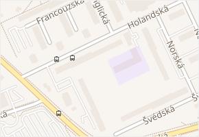 Holandská v obci Kladno - mapa ulice