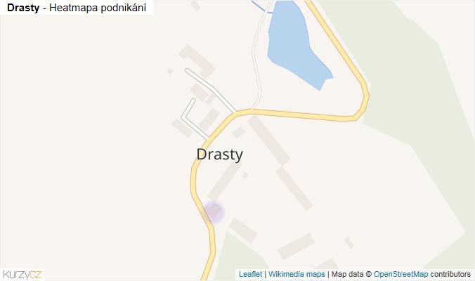 Mapa Drasty - Firmy v části obce.