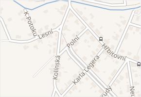 Sendražice v obci Kolín - mapa části obce