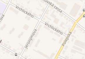 Vrchlického v obci Kolín - mapa ulice