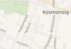 Vrchlického v obci Kosmonosy - mapa ulice