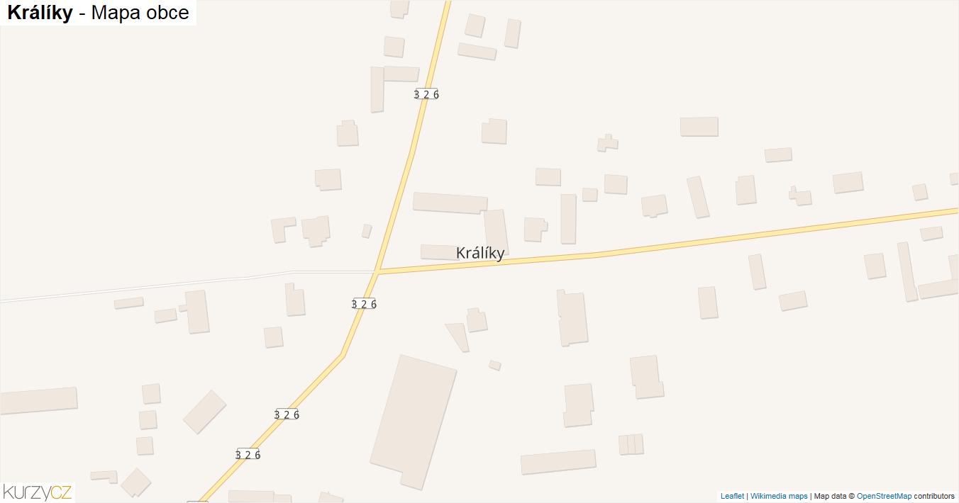 Králíky - mapa obce
