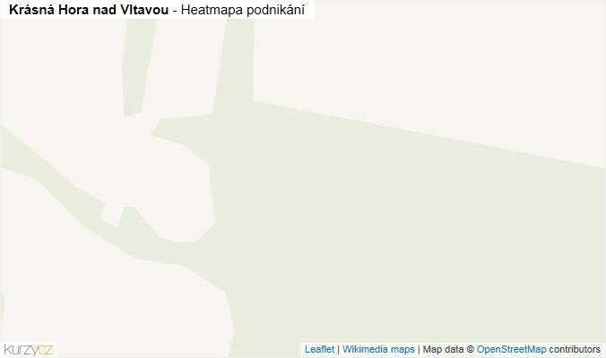 Mapa Krásná Hora nad Vltavou - Firmy v obci.
