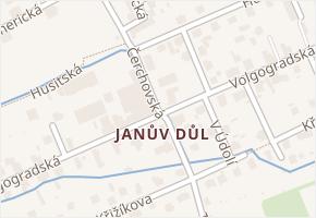 Liberec IX-Janův Důl v obci Liberec - mapa části obce