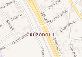 Liberec XI-Růžodol I v obci Liberec - mapa části obce