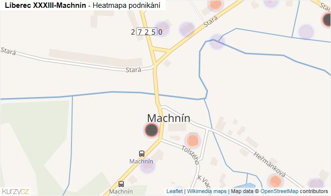 Mapa Liberec XXXIII-Machnín - Firmy v části obce.