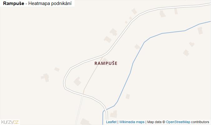 Mapa Rampuše - Firmy v části obce.